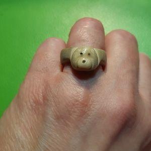Hand Carved Bone Inuit Ring